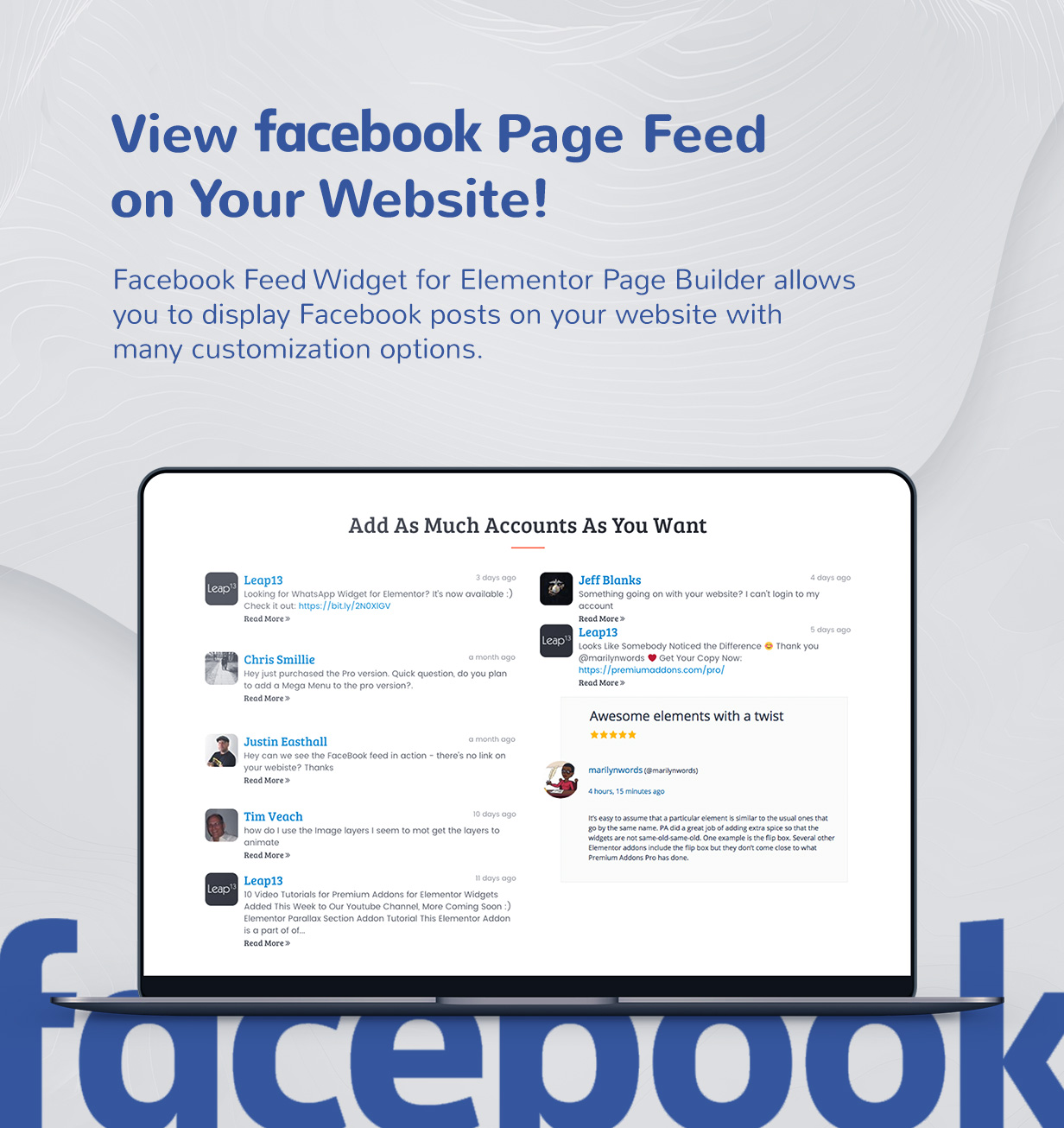 Premium Social Media Widgets for Elementor - 3