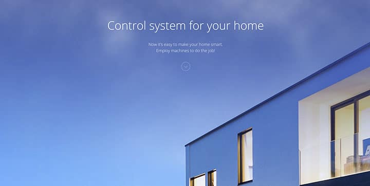 Tap Home blue color website color scheme
